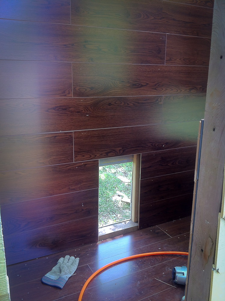 Hardwood Chicken Coup flooring