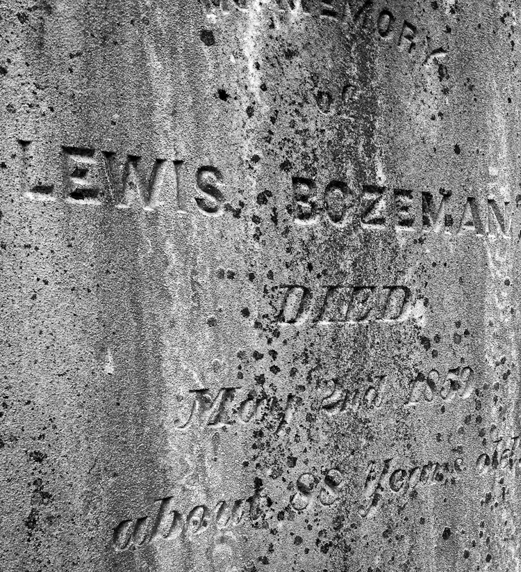 Lewis Bozeman, Died May 2, 1859, about 88 years old