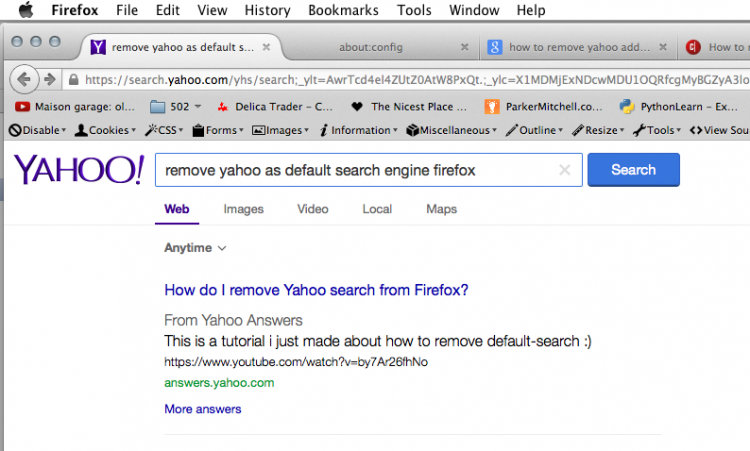 Yahoo Search Screen Shot